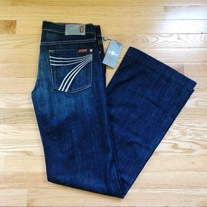 NWT 7 for all Mankind Dojo Flare Trouser Jeans 31